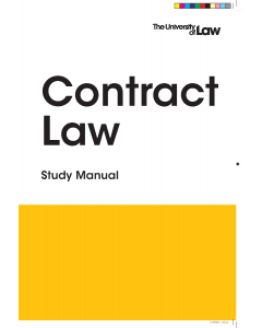 PgDL Contract Law